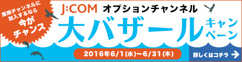 J:COMオプションチャンネル大バザールキャンペーン